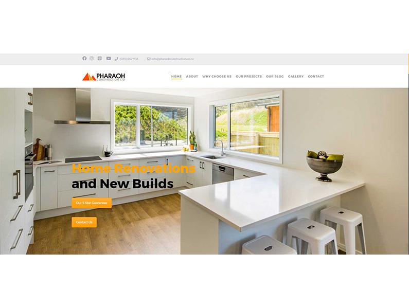 Pharaoh Construction Website