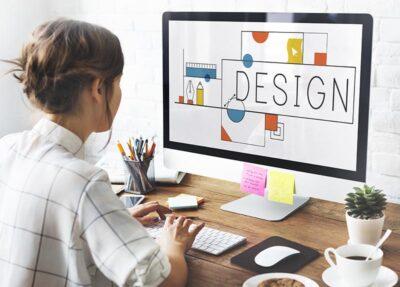 Graphic Designer Designing Some Work On The Computer